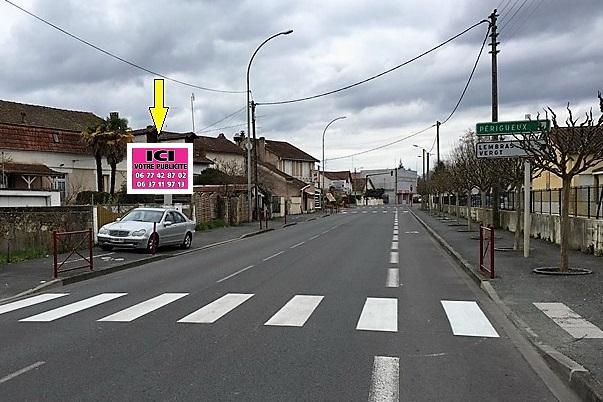 BERGERAC (24) – Rte de Périgueux (Face sortante)