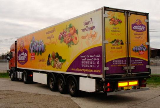 Publicité sur camion